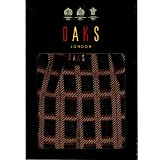 (ダックス)DAKS 日本製 綿100% チェック柄 メンズ スリット ロング パンツ 前開き ステテコ 紳士 (Lサイズ,80ブラック)
