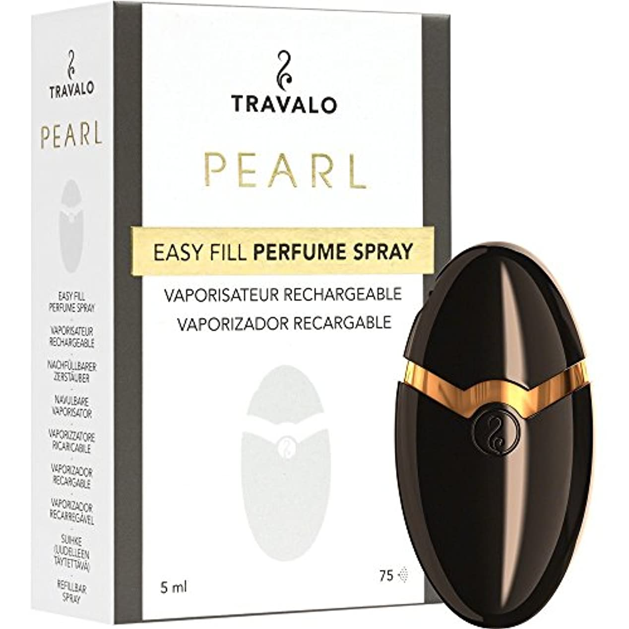 キッチンメガロポリス特性TRAVALO PEARL トラヴァーロ 香水 スプレー 香水 アトマイザー 香水 ボトル (ブラック)
