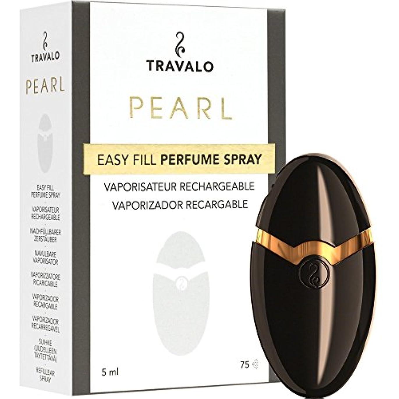 センサー感心するシールドTRAVALO PEARL トラヴァーロ 香水 スプレー 香水 アトマイザー 香水 ボトル (ブラック)