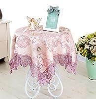 YAHUO テーブルクロス テーブルカバー 食卓カバー コットン 正方形 トップクロス 北欧風 パープル