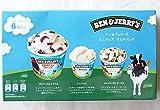 #583445 アイスクリーム ベン&ジェリーズ ミニカップマルチパック(チェリーガルシア・バニラ・チャンキーモンキー)3種×各2 合計6個(120ml×6個)パック 要冷凍