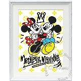 アートショップ フォームス ディズニー×ブランドオマージュアート/スターデザイン「ミッキー&ミニー×ルイ・ヴィトン(W)」A4ポスター