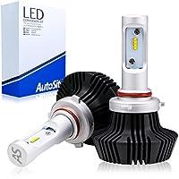 [AutoSite] ムーヴ ムーヴカスタム H26.12~ LEDヘッドライト ハイビーム HB3 6500K 8000Lm 車検対応 オールインワン ファンレス 12v/24v AS70