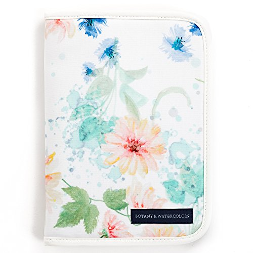 マルチケース 母子手帳ケース(ファスナー) パステルフローラル ボタニカル柄 花柄 コスモス