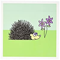 Janna Salak Designs Smallペット–ハリネズミとパープル花–グリーティングカード Set of 6 Greeting Cards