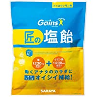 サラヤ Gains 匠の塩飴 レモン味 750g
