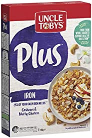 Uncle Tobys Plus Iron Breakfast Cereal, Cashews & Nutty Clusters,