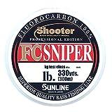 サンライン(SUNLINE) フロロカーボンライン シューター スナイパー 300m 10lb ナチュラルクリア