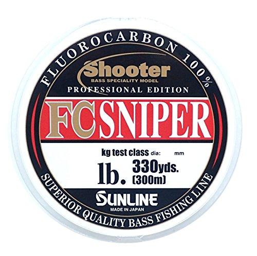 サンライン(SUNLINE) フロロカーボンライン シューター スナイパー 300m 6lb ナチュラルクリア