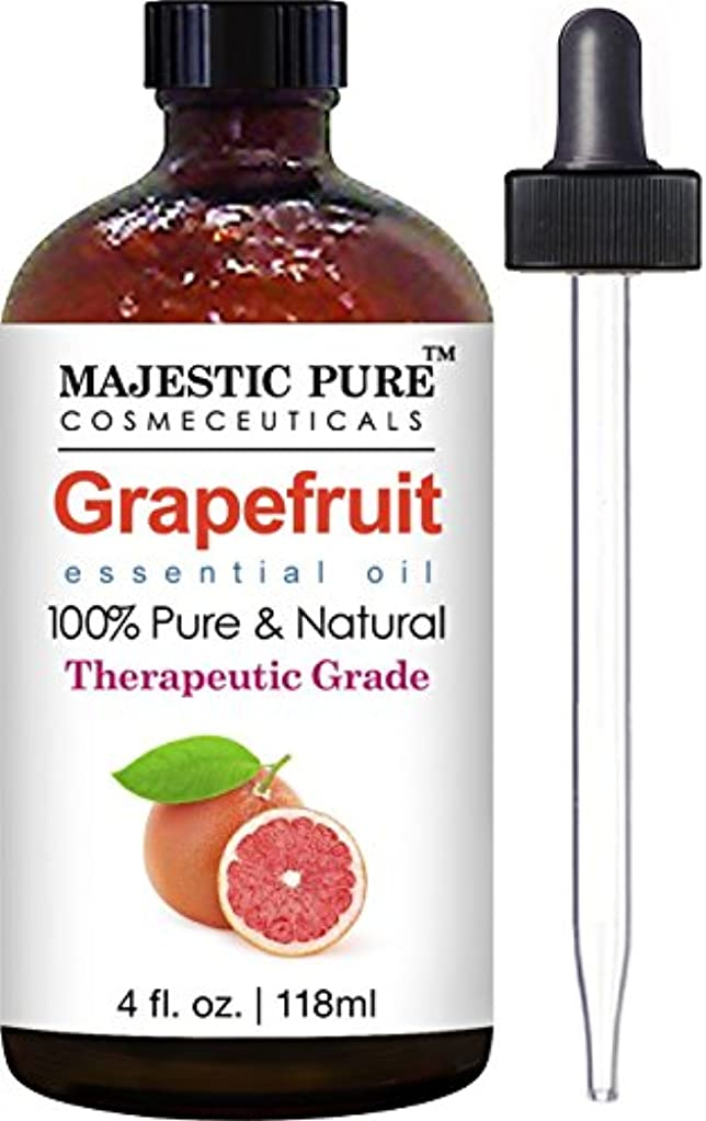 デュアル仲介者火山のGrapefruit Essential Oil From Majestic Pure, Premium Quality Oil from Citrus Racemosa, Therapeutic Grade, 4 Fl...