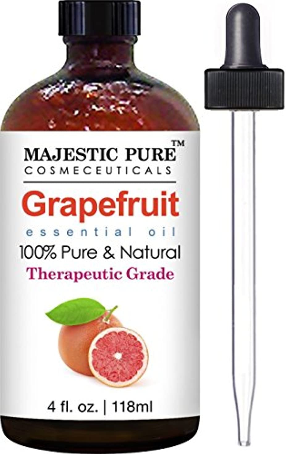 評価可能純粋にアパートGrapefruit Essential Oil From Majestic Pure, Premium Quality Oil from Citrus Racemosa, Therapeutic Grade, 4 Fl Oz by Majestic Pure