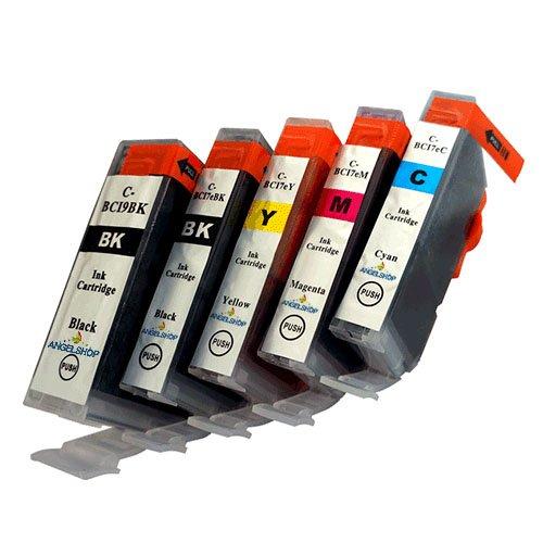 [Angelshop] Canon(キャノン) 互換インクカートリッジ BCI7e+9BK 5色セット 残量表示機能付