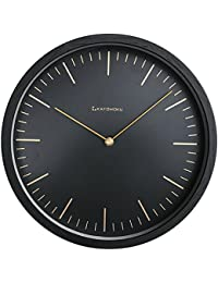 KATOMOKU muku round wall clock 6 ブラック 電波時計 連続秒針ムーブメント km-59BRC φ306mm