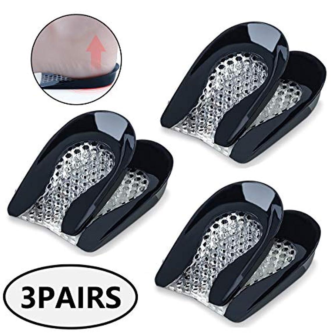 整形外科靴の中敷の靴の挿入物-かかとの痛み、かかとのかかと、アキレス腱炎のかかとカップ-女性用かかとジェルパッド(3組)