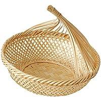 D DOLITY 竹 籐 パン バスケット ストレージ フルーツ 野菜 バスケット 全3種    - #3, L