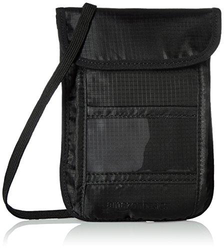 Amazonベーシック 旅行用RFIDネックポーチ ブラック