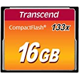 Transcend 16GB CF CARD (133X、 TYPE I ) TS16GCF133