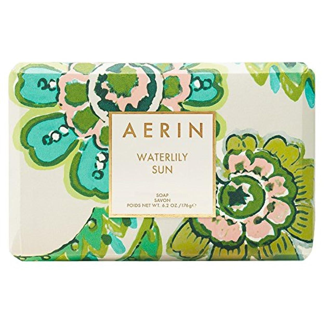 変更可能四分円人物Aerinスイレン日石鹸176グラム (AERIN) - AERIN Waterlily Sun Soap 176g [並行輸入品]