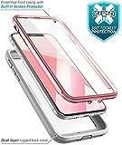 i-Blason iPhoneXケース 両面 アイフォンXケース 耐衝撃 腰掛クリップ付属 ( Magma Series) ローズゴールド
