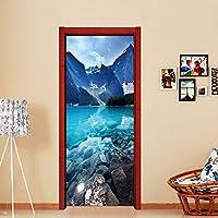 静かな宇宙 - 瞑想を始めるのに最適 - 3Dドア壁画壁画壁用ステッカービニールリムーバブルステッカーホームデコレーションアートドア用ステッカー30.3x78.7インチ(77x200cm) (Color : 26)
