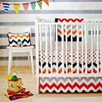 New Arrivals Zig Zag Baby 2 Piece Crib Bedding Set, Rugby [並行輸入品]
