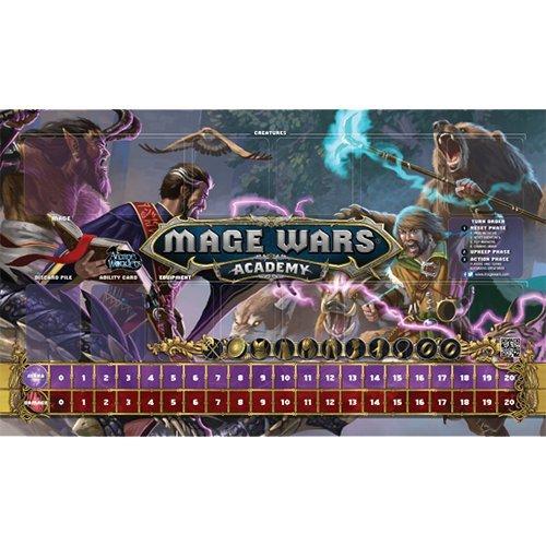 Arcane Wonders Mage Wars Academy 14x 24Beastmaster vsウィザードPlaymatボードゲーム