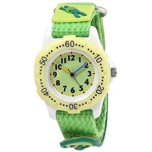 [クレファー]CREPHA 腕時計 こどもウォッチ カエル ナイロンベルト 3気圧防水 グリーン BAK-4114-GN ガールズ