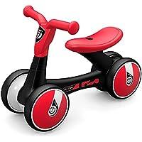 Goolsky LUDDY ベビー バランス バイク自転車 子供ウォーカー 12-36ヶ月 フットペダルなし 幼児 四輪幼児用 自転車 初回誕生日 ギフト