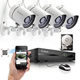 Funlux 4CH Scan QR Code Quick View Network NVR Kit POE 720P HD Night Vision IP CCTV Security Camera System 500gb Hard Drive [並行輸入品]