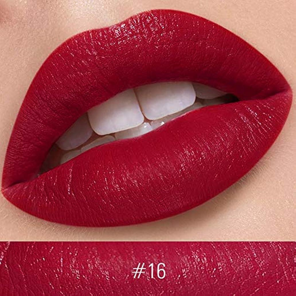 ミット守銭奴知覚的MeterMall 絹のようなマットの口紅化粧防水ヌードベルベットリップスティック滑らかな高着色テクスチャ化粧品 16