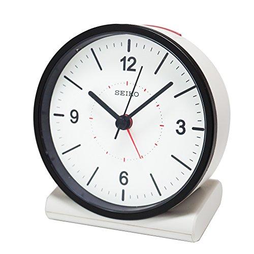 SEIKO CLOCK (セイコークロック) 目覚まし時計 電波 アナログ 白 KR328W