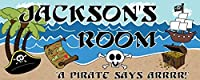 Mona Melisa Designs Customized Pirate Jackson Name Sign Decorative Wall Sticker [並行輸入品]