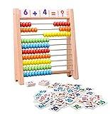 「100玉そろばん+数字カード」セット 百玉そろばん 子供 そろばん 数字 100 算数 おもちゃ 知育・学習玩具 男の子 女の子 3歳 4歳 5歳 6歳 子ども 知育玩具 小学生 足し算 引き算 掛け算 割り算 教材 幼稚園 教具 知育 おもちゃ
