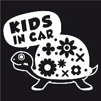 imoninn KIDS in car ステッカー 【シンプル版】 No.53 カメさん (白色)
