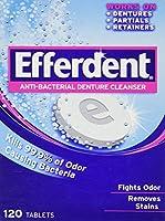Efferdent Anti-Bacterial Denture Cleanser, 120 Count