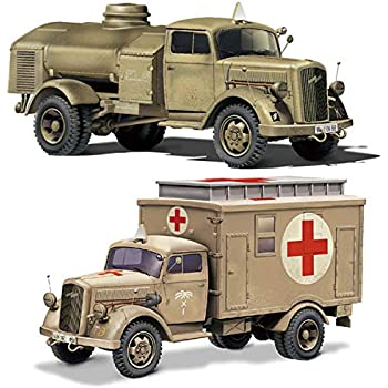 フジミ模型 1/72 ミリタリーシリーズ No.4 ドイツ軍 3tトラック(箱型救護車/燃料給油車) プラモデル ML4