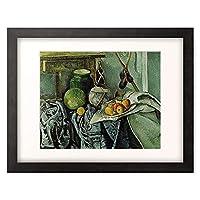 ポール・セザンヌ Paul Cézanne 「Still Life with a Ginger Jar and Eggplants. 1893-94」 額装アート作品