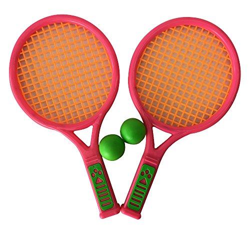 Too OLD ショート サイズ バドミントン ラケット セット 子供 おもちゃ スポーツトイ ボール付き 遊び ゲーム (Sサイズ, ピンク)