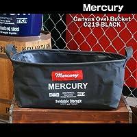 【Mercury】マーキュリー キャンバスバスケット オーバル型Sサイズ(ブラック) C219-BK