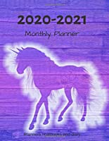 "2020 – 2021 Monthly Planner: 2 Year (Jan 2020 – Dec 2021) Daily Weekly  Monthly Calendar Planner Organizer - Personal Planner Notebook for Work, School or Home 8.5"" x 11"" (Planners, notebooks and diary)"
