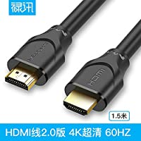 LUONOCAN HDMI ケーブル ハイスピード A-A HDMI CABLE HDMI-HDMIケーブル 最新 HDMI規格 Ver2.0 1080p/2160p 60Hz 18Gbps高速 イーサネット/4K/3D NINTENDO SWITCH ARC CEC Xbox PS3 PS4 PC対応 (1M, ブラック)