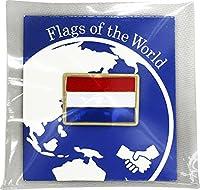 世界の国旗 ピンバッジ Sサイズ 8×12mm:オランダ