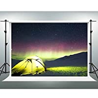 Gesen 10 x 7ft Night View BackdropフィールドサバイバルMountainテントunder the stars Backdrop You Tube背景ビデオStudio Props sen181
