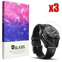 Lamshaw TicWatch Pro 保護フィルム, 9H ガラスフィルム カバー 対応 TicWatch Pro 腕時計 (3枚)