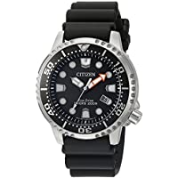 Citizen Men's 'Promaster Diver' Quartz Stainless Steel and Polyurethane Diving Watch Color:Black (Model: BN0150-28E)
