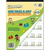 Channie's M601 One Page A Day Double Digit Math Problem Workbook for 1st - 3rd Grade Simply Tear Off On Page a Day For Math R