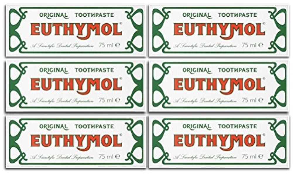 耐えられる慎重に生き返らせるEuthymol Original Toothpaste 75ml (Case Of 6) by Euthymol