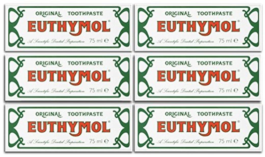 シーサイド実際の亡命Euthymol Original Toothpaste 75ml (Case Of 6) by Euthymol