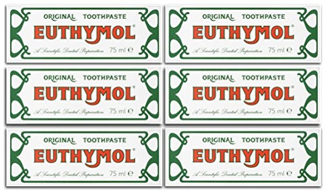 アグネスグレイ日付付きドライEuthymol Original Toothpaste 75ml (Case Of 6) by Euthymol