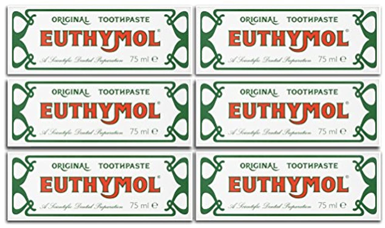 十分です最近カラスEuthymol Original Toothpaste 75ml (Case Of 6) by Euthymol